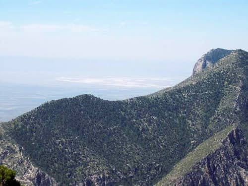 The Guadalupe Peak trail from...