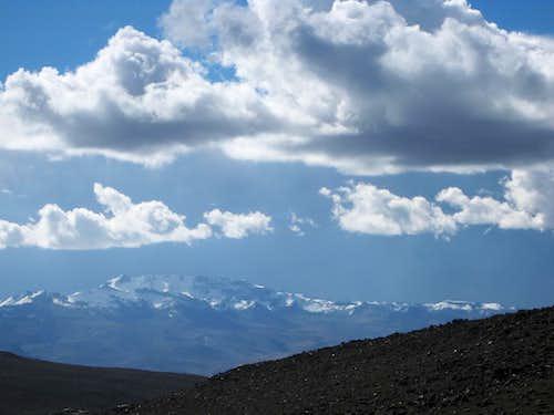 A distant view of Nevado Mismi