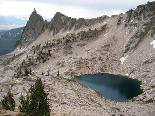 Lake 9200 from slopes of Peak 10375