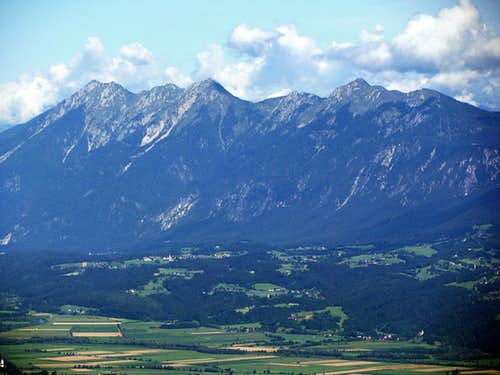 Spitzegel in Gailtal Alps - from Dreilandereck