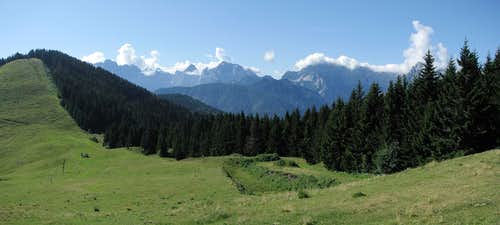 Panorama to south - Slovenia and Italy