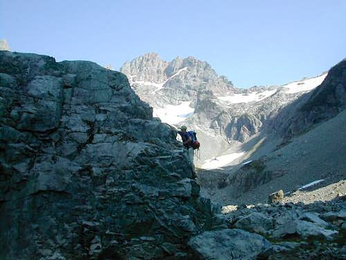 skook bouldering in Glacier...