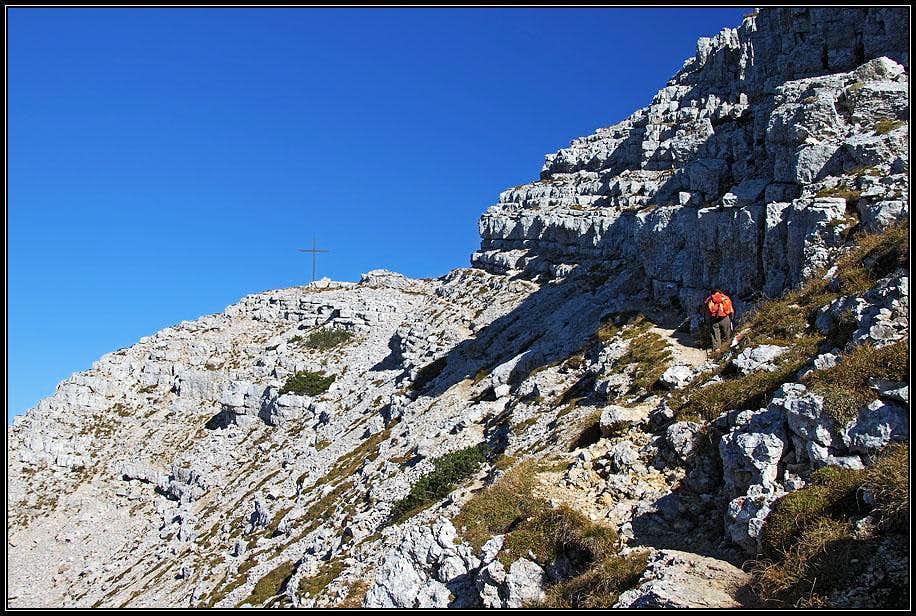 The summit ledge