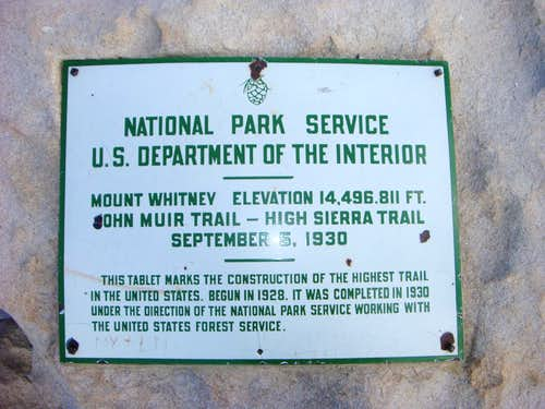 Sign with Elevation of Mt Whitney