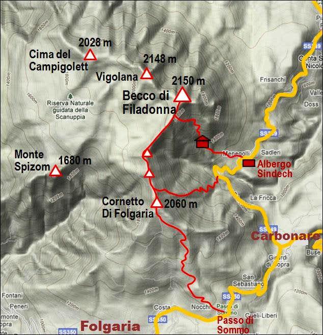 Becco di Filadonna map