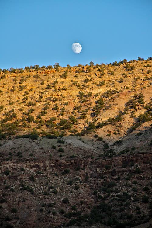 Moon over Escalante