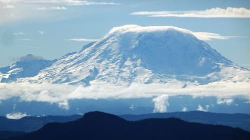 Clouds Building on Mount Rainier