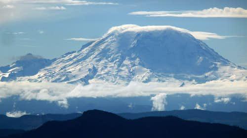Clouds Building on Mount Rainier