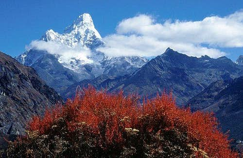 Ama Dablam from route to Khumjung