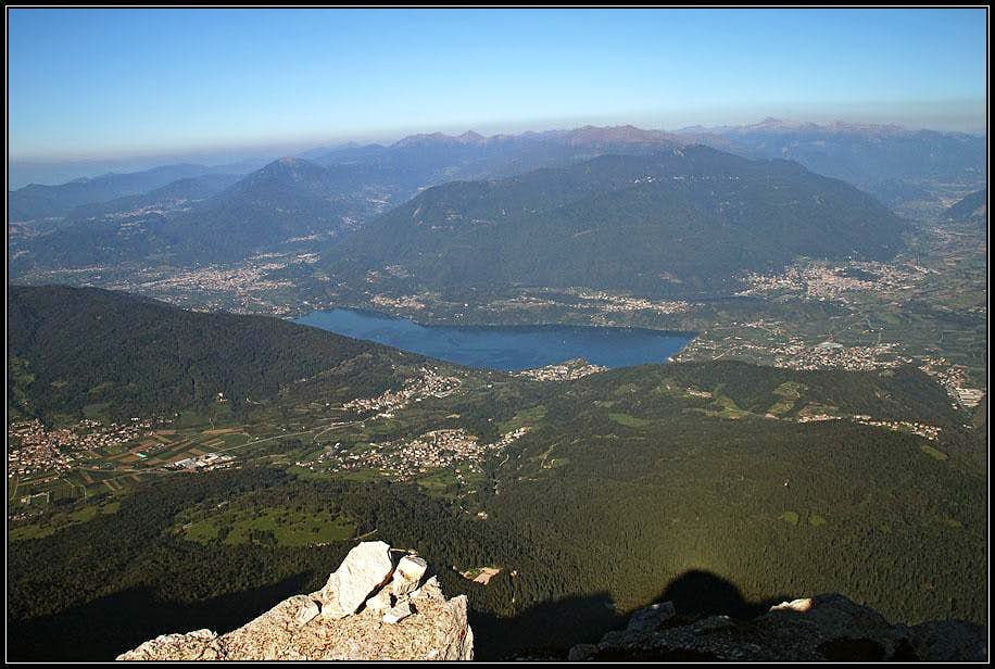 Lago di Caldonazza from Becco di Filadonna