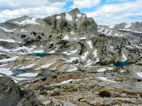 North peak and Conness lakes