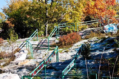 New Stair Rails at Dan\'s Rock Overlook