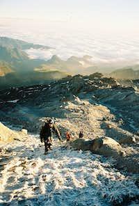 Nearing the Jamapa Glacier....