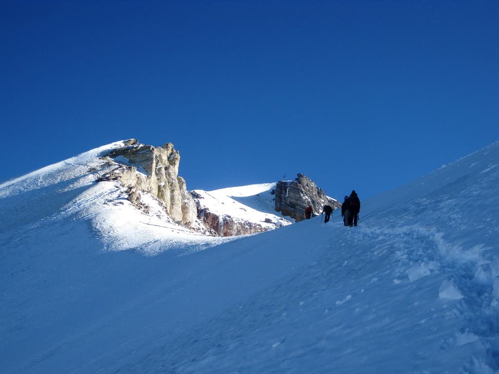 Heading for the summit of Misti