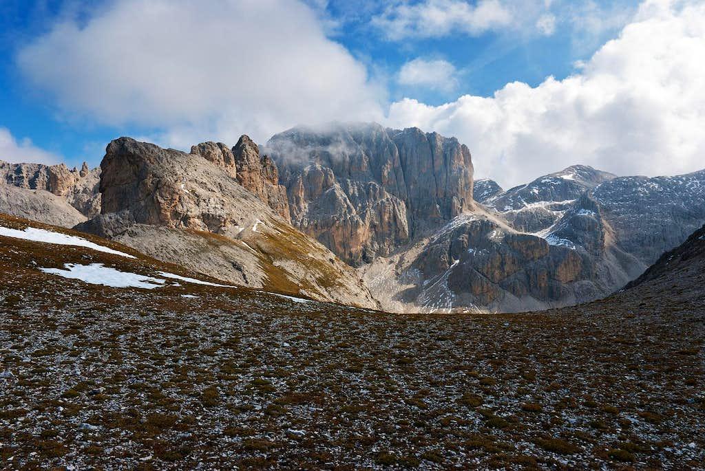 View from Giogo di Pra Caminaccio-Purgametschjoch