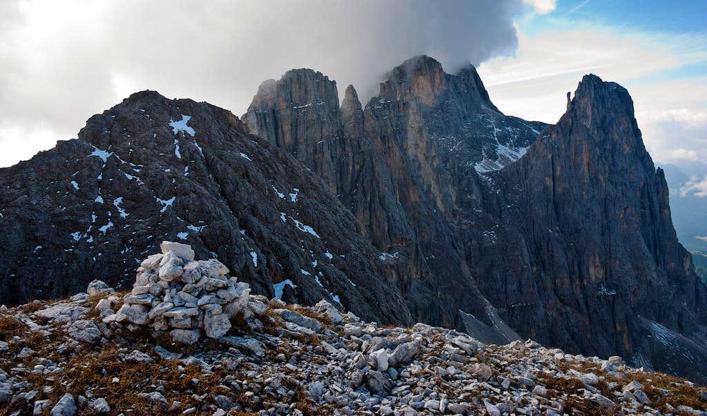 View from Teste d'Agnello ridge