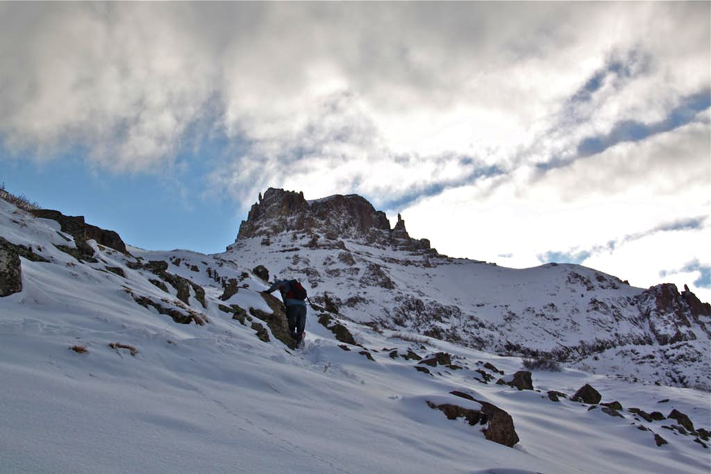 Hiking towards Potosi Peak