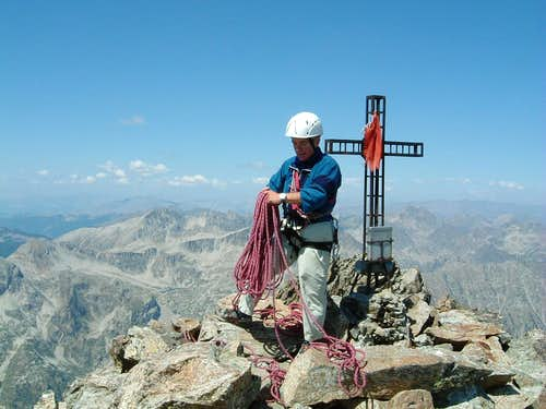 Cima di Nasta summit cross and book