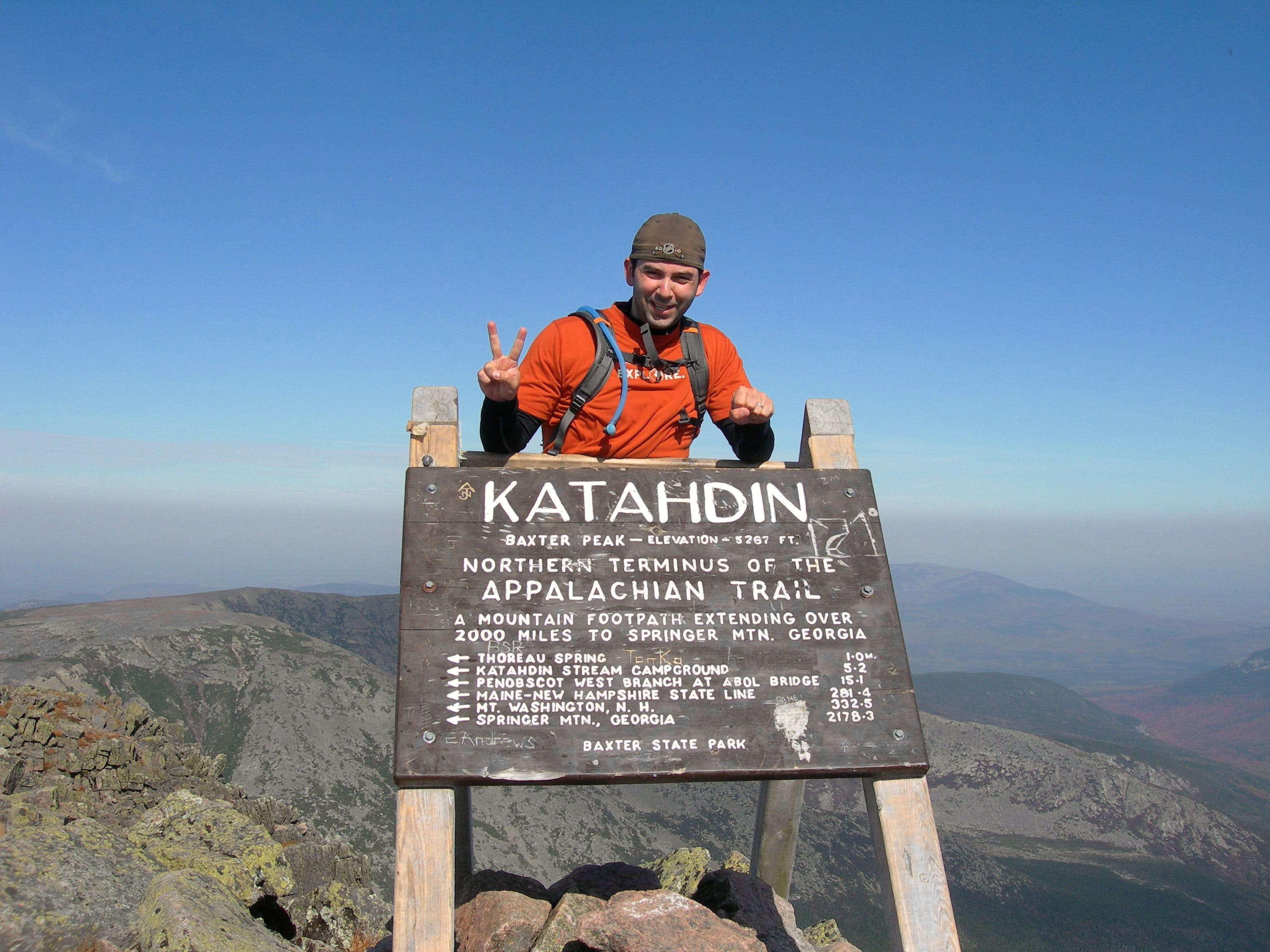 Beautiful Autumn Day on Katahdin