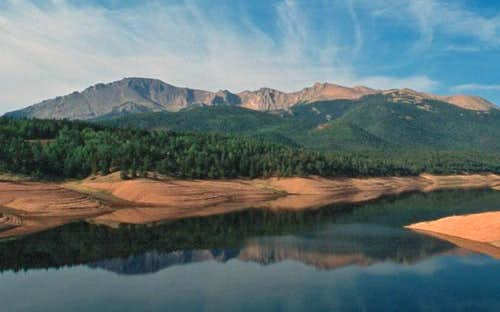 Pikes Peak from the reservoir...