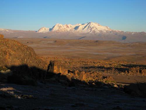 Nevado Hualca Hualca early in the morning