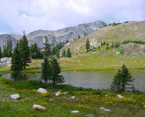 Alpine Lake near Medicine Bow...