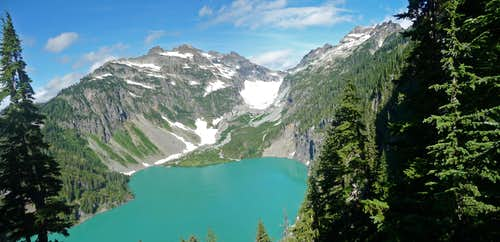 Columbia Peak with Blanca Lake