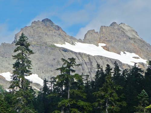 Columbia Peak with Trees