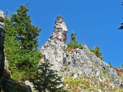 Rock Spire above the the Boot Path