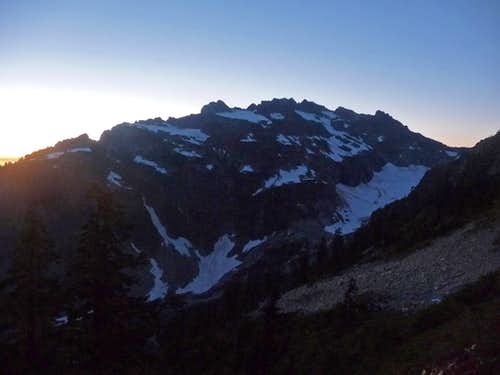 Columbia Peak during Evening