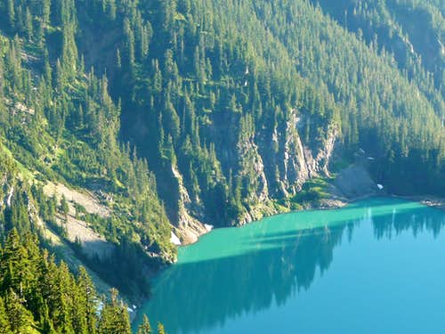 Blanca Lake with Cliffs