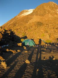 Sunset on Chachani high camp