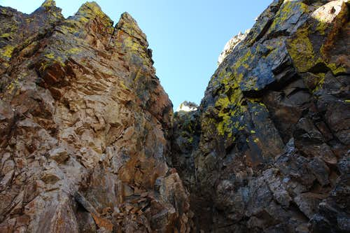 Inside the left gully