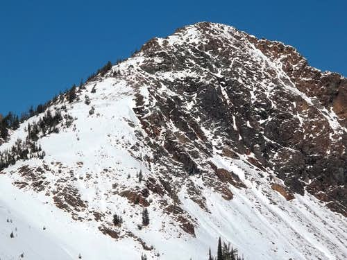 Not Hinkhouse Peak (closeup from Longs Pass)