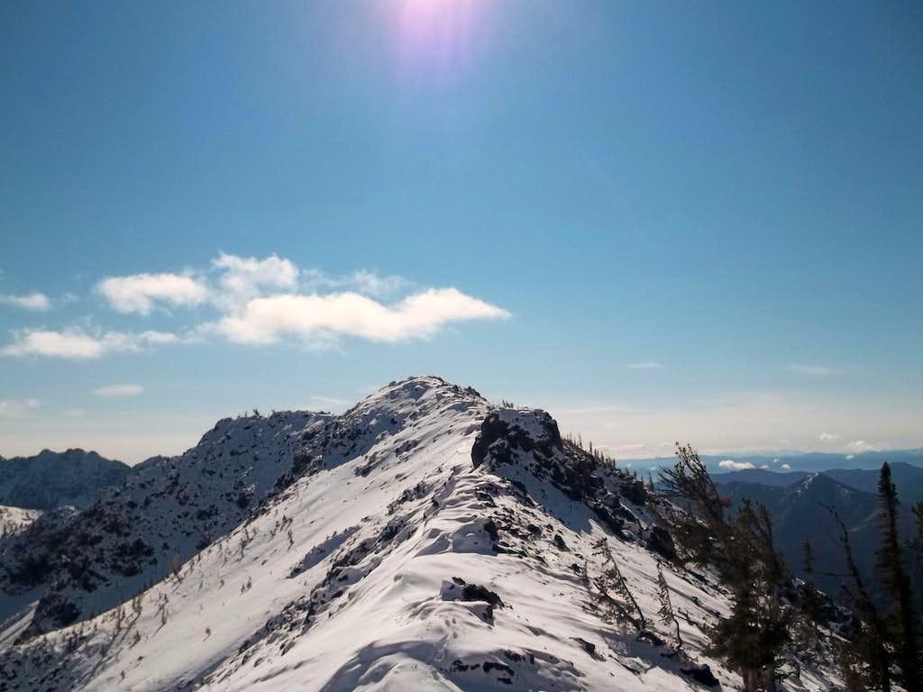 Looking back on the ridge