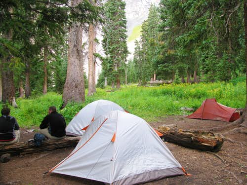Blue Lakes Basin Campsite