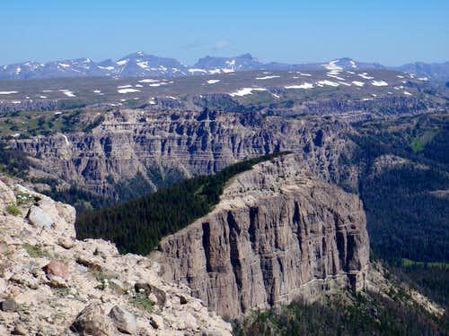 NE Pinnacle Butte; Looking Northeast