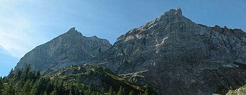 Große Kinigat (left, 2689m)...