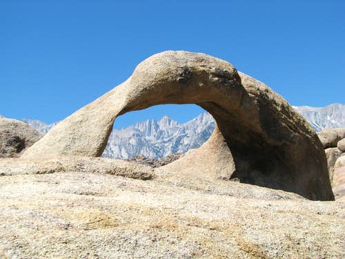 Mt. Whitney framed by Mobius Arch