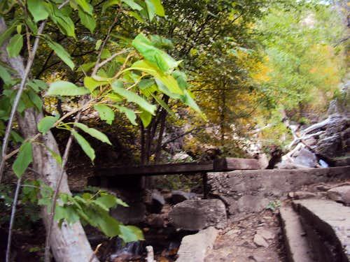 Bridge into Waterfall Canyon