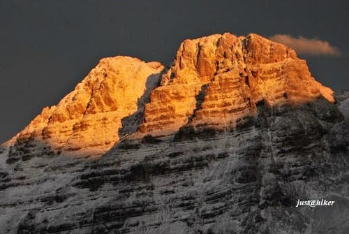 Close up of Planja (2.453m), Julian Alps