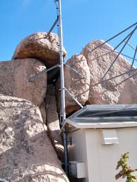 Chain on the summit boulder
