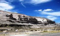 Rock formations along the Arequipa - Chivay road