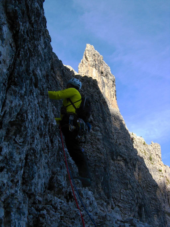 Climbing Mazzorana Route - Pala di Punta Ellie