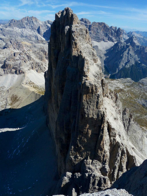 The impressive North Wall of Cima Grande di Lavaredo