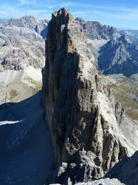 The impressive North Wall of Cima Grande di Lavaredo