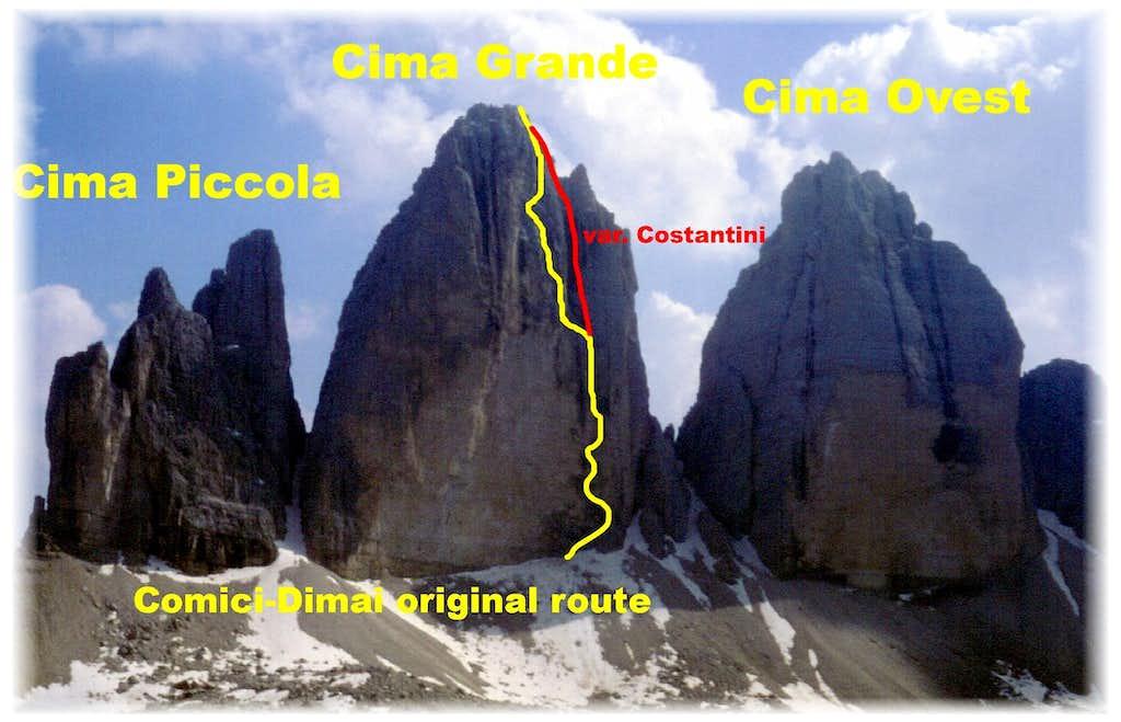 Comici - Dimai Route, Cima Grande di Lavaredo