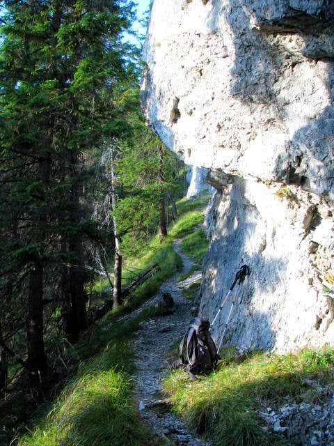 Trail South of Poludnica\'s Summit
