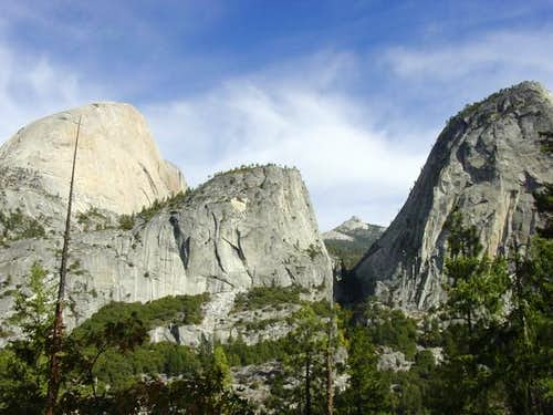 Neat shot of Half Dome, Mt...