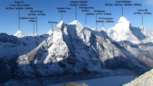 Panorama above Imja Tse High Camp